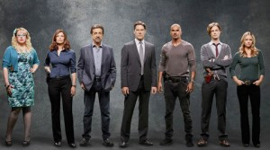 "Gallery Shoot of Season 8 Criminal Minds. Kirsten Vangsness (Penelope Garcia), Jeanne Tripplehorn (Alex Blake), Joe Mantegna (David Rossi), Thomas Gibson (Aaron Hotchner), Shemar Moore (Derek Morgan), Matthew Gray Gubler (Dr. Spencer Reid), A.J. Cook (Jennifer ""JJ"" Jareau). Photo: Cliff Lipson/CBS ©2012 CBS Broadcasting, Inc. All Rights Reserved."